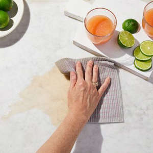 a bowl of fruit on a plate on a table: Five Two Compostable Sponge Cloths (Set of 10)
