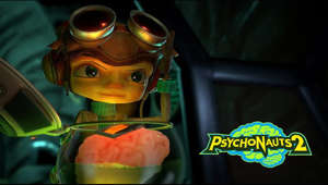 "a tray of food: Psychonauts 2 releases in 2021 on Xbox Game Pass, Windows PC, Mac, Linux, and PS4. Best of all, it'll be Optimized for Xbox Series X!  Psychonauts 2 is a mind-bending trip through the strange worlds hiding inside our brains. Freshly-minted special agent/acrobat extraordinaire Razputin ""Raz"" Aquato returns to unpack emotional baggage and expand mental horizons. Along the way he'll help new friends (like this magical mote of light voiced by Jack Black) and unravel dark mysteries about the Psychonauts and his own family."