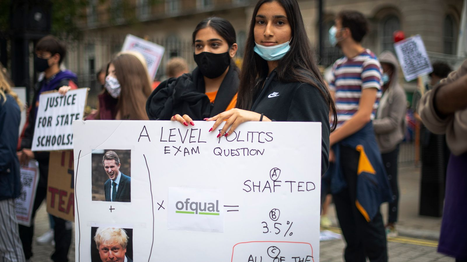 Johnson and Williamson forced into U-turn over A-levels grades