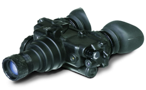 a close up of a camera: Superior Tactical PVS-7 Night Vision Goggles