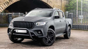 a car parked in a parking lot: Mercedes-Benz X-Class Project Kahn Front Three Quarters