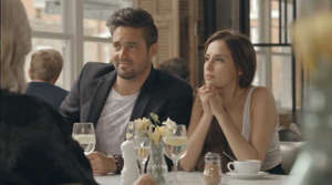 Spencer Matthews et al. sitting at a table: Lucy and Spencer