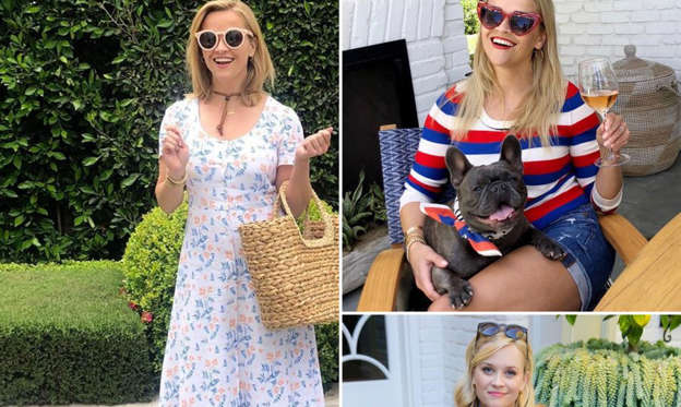 "Slide 1 of 43: Puppy love! Reese Witherspoon is the ultimate dog lover and she wants everyone to know it.       Celebrities and Their Pets    Read article   Whether she's posing with dogs on set — like she frequently did as Elle Woods in the Legally Blonde franchise with her BFF Bruiser Woods — or is cuddling up her own pets (she has a few), Witherspoon is a true animal friend. Throughout the years, the Big Little Lies star and producer has taken her love of canines to the next level by consistently sharing photos of her family of dogs via social media.       Celebrities Who Love French Bulldogs    Read article   The Sweet Home Alabama actress has a long history of naming her animals after celebrities, like her current Labrador, Hank, named after country singer Hank Williams. The Draper James founder once had an English bulldog named Frank Sinatra after the ""Come Fly With Me"" crooner and a French bulldog named Coco Chanel for the legendary designer. Witherspoon takes her Instagram followers along with her through her daily duties as a pet owner, shows of her dogs' adorable faces and frequently posts photos of them in costumes.   Currently, her newsfeed is overflowing with photos of three puppies, Hank, American bulldog Lou and French bulldog Minnie Pearl. In November 2020, Minnie Pearl joined the Witherspoon family as its latest addition. She was introduced to her Instagram followers less than a month after the Walk the Line actress revealed that the family's other French bulldog Pepper had passed away. Lou, for his part, joined the squad in June 2019 two months after Witherspoon's longtime pup, a German Shepherd named Nash, died.       All the Times Reese Witherspoon and Daughter Ava Looked Like Twins    Read article   The New Orleans native is also mother to three children, Ava and Deacon, whom she shares with ex-husband Ryan Phillippe, and Tennessee, whom she shares with husband Jim Toth. Scroll below to see all of The Morning Show star's adorable pupdates over the years."