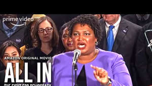 Stacey Abrams et al. posing for the camera: In anticipation of the 2020 presidential election, ALL IN: THE FIGHT FOR DEMOCRACY examines the often overlooked, yet insidious issue of voter suppression in the United States The film interweaves personal experiences with current activism and historical insight to expose a problem that has corrupted our democracy from the very beginning. With the perspective and expertise of Stacey Abrams, the former Minority Leader of the Georgia House of Representatives, the documentary offers an insider's look into laws and barriers to voting that most people don't even know is a threat to their basic rights as citizens of the United States. Coming to theaters Sept. 9, on Prime Video Sept. 18.  About Prime Video: Want to watch it now? We've got it. This week's newest movies, last night's TV shows, classic favorites, and more are available to stream instantly, plus all your videos are stored in Your Video Library. Over 150,000 movies and TV episodes, including thousands for Amazon Prime members at no additional cost.   Get More Prime Video:  Stream Now: http://bit.ly/WatchMorePrimeVideo Facebook: http://bit.ly/PrimeVideoFB Twitter: http://bit.ly/PrimeVideoTW Instagram: http://bit.ly/AmazonPrimeVideoIG   ALL IN: The Fight For Democracy – Official Trailer | Prime Video https://youtu.be/t6jVGswLPd8   Prime Video https://www.youtube.com/PrimeVideo