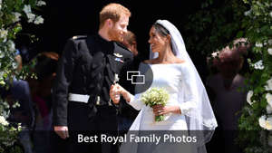 a man and a woman in a wedding dress: Prince Harry, Meghan Markle