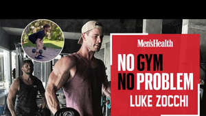 a group of people posing for the camera: The mind behind Chris Hemsworth's muscle, Centr trainer Luke Zocchi takes you through a six-move, full-body dumbbell workout that will build muscle and burn fat in less than 20 minutes and only needs one set of dumbbells. It's perfect it you're short on time and kit, or if you just need a quick home workout blast.   Here's how it works:  6 Rounds: 6 Deadlifts 6 Glute bridge presses 6 Reverse lunge curls 6 burpees  Men's Health UK  Trusted guidance for men passionate about their health, fitness and mental wellbeing. With muscle-building advice, style hacks, nutrition tips and workouts to try, we've got all areas covered  Men's Health UK: https://www.menshealth.com/uk/ Men's Health UK on Facebook: https://www.facebook.com/menshealthuk/ Men's Health UK on Twitter: https://twitter.com/menshealthuk Men's Health UK on Instagram: https://www.instagram.com/menshealthuk/ Men's Health on Pinterest: https://www.pinterest.co.uk/menshealthuk/  #MensHealth #HomeWorkout #ChrisHemsworth #LukeZocchi