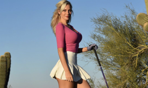 a woman posing for a picture: Popular Instagram golfer Paige Spiranac.