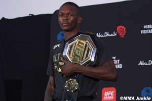 a person posing for the camera: Israel Adesanya