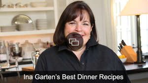 Ina Garten sitting at a table