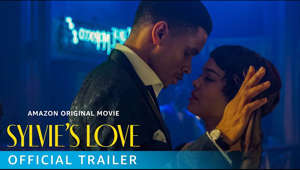 a screen shot of a man: In SYLVIE'S LOVE, the jazz is smooth and the air sultry in the hot New York summer of 1957. Robert (Nnamdi Asomugha), a saxophonist, spends late nights playing behind a less-talented but well-known bandleader, as member of a jazz quartet. Sylvie (Tessa Thompson), who dreams of a career in television, spends her summer days helping around her father's record store, as she waits for her fiancé to return from war. When Robert takes a part-time job at the record store, the two begin a friendship that sparks a deep passion in each of them unlike anything they have felt before. As the summer winds down, life takes them in different directions, bringing their relationship to an end. Years pass, Sylvie's career as a TV producer blossoms, while Robert has to come to terms with what the age of Motown is doing to the popularity of Jazz. In a chance meeting, Sylvie and Robert cross paths again, only to find that while their lives have changed, their feelings for each other remain the same. Writer/director Eugene Ashe combines romance and music into a sweeping story that brings together changing times, a changing culture, and the true price of love.   SYLVIE'S LOVE arrives only on Prime Video December 25.  