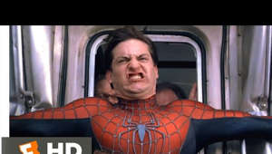 graphical user interface: Spider-Man 2 - Stopping the Train: Spider-Man (Tobey Maguire) uses all his strength to stop a speeding train full of passengers from going off the rails. BUY THE MOVIE: http://bit.ly/2gpeOHR  Watch the Best Spider-Man 2 Scenes & Clips: Spider-Man 2 Best Scenes playlist: http://j.mp/2h4wiYq  About Spider-Man 2 Movie: Stan Lee's all-too-human superhero returns to the screen in this highly anticipated sequel to 2002's blockbuster hit Spider-Man. Peter Parker (Tobey Maguire) is attempting to juggle college classes and his job as a photographer with the Daily Bugle while maintaining his secret life as costumed crime-fighter Spider-Man. Parker is also struggling to hold on to his relationship with Mary Jane Watson (Kirsten Dunst), who is beginning to enjoy success as a model and actress, and both Mary Jane and Peter have noticed he's beginning to buckle under the strain. Parker's friendship with Harry Osborn (James Franco) is also beginning to fray due to Peter's seeming alliance with Spider-Man, whom Harry blames for the death of his father, the nefarious Norman Osborn. As Parker weighs his responsibilities to himself and those around him against the obligations that come with his special powers, Spider-Man is faced with a new nemesis -- Dr. Otto Octavius (Alfred Molina), a deranged scientist whose latest project has turned him into the near-invincible cyborg Doctor Octopus. Spider-Man 2 was directed by Sam Raimi, who helmed the first film, and much of the original cast has also reunited for this sequel, including Rosemary Harris, J.K. Simmons, and Bruce Campbell.  CREDITS: TM & © Sony (2004) Cast: Jack Wetherall, Joey Diaz, Christopher Porto, Vincent Pastore, Chloe Dykstra, Jill Sayre, Tom Carey, Tony Campisi, Rickey G. Williams, Bill Calvert, Savannah Pope, Phil LaMarr, Tobey Maguire, Julia Max, Brianna Brown, Dan Hicks, Peter Allas, John Thurner, Simone Gordon, Doug Swander, Timothy Patrick Quill Director: Sam Raimi Producers: Avi Arad, Joseph M. Caracciolo, Grant Curtis, Kevin Feige, Stan Lee, Lorne Orleans, Laura Ziskin Screenwriters: Stan Lee, Steve Ditko, Alfred Gough, Miles Millar, Michael Chabon, Alvin Sargent  About Movieclips: Subscribe for more Movie Clips: http://bit.ly/1u2yaWd Like us on FACEBOOK: http://on.fb.me/1y8M8ax Follow us on TWITTER: http://bit.ly/1ghOWmt Pinterest: http://bit.ly/14wL9De Tumblr: http://bit.ly/1vUwhH7  The MOVIECLIPS channel is the largest collection of licensed movie clips on the web. Here you will find unforgettable moments, scenes and lines from all your favorite films. Made by movie fans, for movie fans.