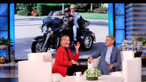 "a group of people sitting at a table: Judge Judy revealed to Ellen that after her long-running series ""Judge Judy"" closes its 25th season in 2021, fans won't have to wait long to see her on the small screen again – she's returning with a new show called ""Judy Justice""! Plus, the star talked about buying her husband a Harley-Davidson tricycle for his 85th birthday, and stressed the importance of voting this year.  #JudgeJudy #TheEllenShow #Vote"