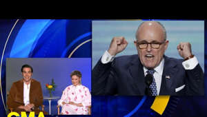 "a screen shot of Rudy Giuliani in a suit and tie: Baron Cohen and Maria Bakalova, who plays his daughter in ""Borat,"" speak out on ""GMA"" about the movie's headline-making scene featuring Giuliani.  Subscribe to GMA's YouTube page:  https://bit.ly/2Zq0dU5   Visit GMA's homepage: https://www.goodmorningamerica.com/   Follow GMA: TikTok: tiktok.com/@gma Facebook:facebook.com/GoodMorningAmerica Twitter: twitter.com/gma Instagram: instagram.com/goodmorningamerica/  Watch full episodes: abc.go.com/shows/good-morning-america hulu.tv/2YnifTH  #GMA #Borat2 #GiulianiBorat #Guiliani #SachaBaronCohen #Borat #BoratSubsequentMovieFilm"