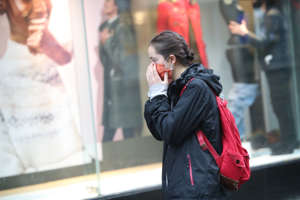 A woman wearing a face mask in Sheffield city centre, as South Yorkshire is the latest region to be placed into Tier 3 coronavirus restrictions, which will come into effect on Saturday. (Photo by Danny Lawson/PA Images via Getty Images)