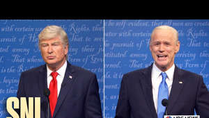 a screen shot of a man in a suit and tie: Kristen Welker (Maya Rudolph) hosts the last presidential debate of the 2020 election between Donald Trump (Alec Baldwin) and Joe Biden (Jim Carrey).  Saturday Night Live.  Stream now on Peacock: https://bit.ly/3j1IRUk  Subscribe to SNL: https://goo.gl/tUsXwM Stream Current Full Episodes: http://www.nbc.com/saturday-night-live   WATCH PAST SNL SEASONS Google Play - http://bit.ly/SNLGooglePlay iTunes - http://bit.ly/SNLiTunes   SNL ON SOCIAL SNL Instagram: http://instagram.com/nbcsnl SNL Facebook: https://www.facebook.com/snl SNL Twitter: https://twitter.com/nbcsnl SNL Tumblr: http://nbcsnl.tumblr.com/ SNL Pinterest: http://www.pinterest.com/nbcsnl/   GET MORE NBC Like NBC: http://Facebook.com/NBC Follow NBC: http://Twitter.com/NBC NBC Tumblr: http://NBCtv.tumblr.com/ YouTube: http://www.youtube.com/nbc NBC Instagram: http://instagram.com/nbctv   #SNL #Adele #HER #SNL46