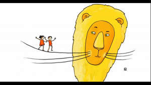 "We are delighted to share an episode of WBUR's Circle Round called ""The Lion's Whisker"" about overcoming frustration and impatience with courage, understanding, and a little magic. Andrew & Polly and Cory the Crocodile encounter some frustration of their own.