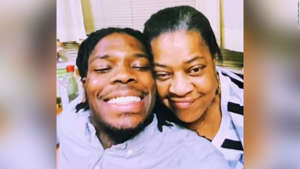 Cory Spinks posing for the camera: Walter Wallace Jr., here with his mother, was shot and killed by Philadelphia police officers.