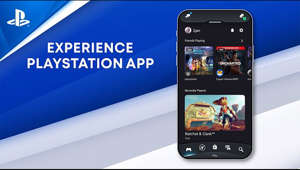 graphical user interface, application: Connect. Discover. Control.  Chat with friends, get the latest gaming news, and download games to your PS4 or PS5™ console via the official PlayStation companion app.  Find out more: https://www.playstation.com/playstation-app