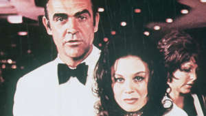 Sean Connery, Lana Wood are posing for a picture