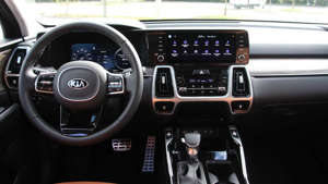 a close up of a car: 2021 Kia Sorento X-Line Interior