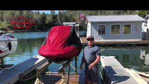 a person standing next to a dock: https://www.carcovers.com/covers/jet-ski.html - Jet ski covers at CarCovers.com. The Weatherproof Shield Jet Ski cover is made from a durable all weather UV treated PolyShield material. Designed to provide effective weather protection at a fantastic value. Built-in air vents serve a dual purpose: increased air flow and protection from trapped moisture. Free shipping to all of the U.S and Canada!