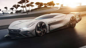 A maximum speed of 255 mph, an aerodynamic design honed to perfection and race-winning powertrain technology define the Jaguar Vision Gran Turismo SV – the latest all-electric virtual race car developed for Gran Turismo, and built in the real-world as full-scale design study.
