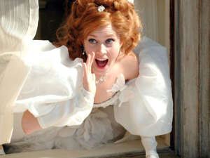 "a woman in a wedding dress:  Disney's ""Enchanted"" premiered 13 years ago, but fans still might not have heard all of these fun facts. Amy Adams almost didn't get the leading role because she wasn't a big enough star yet. The original script included a scene with strippers.  Patrick Dempsey's fans made it hard for the production team to shoot certain scenes. Adams took voice lessons for the film, and she and Dempsey both had to take dance classes.  Visit Insider's homepage for more stories. ""Enchanted,"" starring Amy Adams and Patrick Dempsey, famously featured classic tons of Disney tropes and plenty of memorable songs.The film follows princess Giselle (Adams), who's banished from her cartoon fantasy world by the evil Queen Narissa (Susan Sarandon) and lands in New York City. It's heartwarming, funny, and an all-around feel-good Disney flick with some interesting behind-the-scenes details. Read on for some fun facts you probably didn't know about ""Enchanted.""Read the original article on Insider"