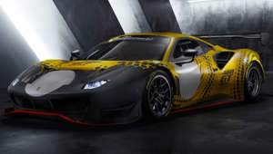 a car parked on the side of a road: Ferrari presents the new 488 GT Modificata, a limited edition car that incorporates the technology developed for the 488 GT3 and 488 GTE, transcending the limits imposed by technical and sporting regulations to exploit its full potential. The 488 GT Modificata is exclusively for use during track days and at Ferrari Club Competizioni GT events.