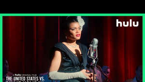 Andra Day holding a guitar: Her voice would not be silenced. Experience Andra Day as Billie Holiday in 'The United States vs. Billie Holiday,' directed by Lee Daniels. Premieres February 26, only on Hulu.   SUBSCRIBE TO HULU'S YOUTUBE CHANNEL Click the link to subscribe to our channel for the latest shows & updates: http://www.youtube.com/hulu?sub_confi  START YOUR FREE TRIAL  http://hulu.com/start   FOLLOW US ON SOCIAL Instagram: https://www.instagram.com/hulu/  Hulu on Twitter: https://twitter.com/hulu Facebook: https://www.facebook.com/hulu