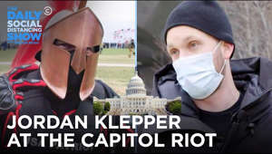 "text: Pitchforks, Proud Boys, and a one-man ""Tyranny Response Team."" Jordan Klepper saw it all at the Capitol insurrection. #DailyShow #JordanKlepper #Capitol  Subscribe to The Daily Show: https://www.youtube.com/channel/UCwWhs_6x42TyRM4Wstoq8HA/?sub_confirmation=1   Follow The Daily Show: Twitter: https://twitter.com/TheDailyShow Facebook: https://www.facebook.com/thedailyshow Instagram: https://www.instagram.com/thedailyshow  Watch full episodes of The Daily Show for free: http://www.cc.com/shows/the-daily-show-with-trevor-noah/full-episodes  Follow Comedy Central: Twitter: https://twitter.com/ComedyCentral Facebook: https://www.facebook.com/ComedyCentral Instagram: https://www.instagram.com/comedycentral  About The Daily Show: Trevor Noah and The Daily Show correspondents tackle the biggest stories in news, politics and pop culture.  The Daily Show with Trevor Noah airs weeknights at 11/10c on Comedy Central."
