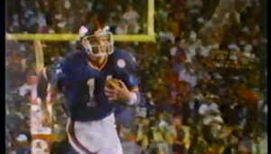 a man in a baseball game: Quarterback Phil Simms became the first to utter that famous phrase after the New York Giants won Super Bowl XXI. He was reportedly paid $75,000 for doing the ad.