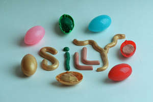 a close up of food on a table: Silly putty