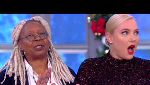 elaine johnson, Meghan McCain looking at the camera: Things got heated between Whoopi and Meghan during a political discussion Monday's episode of 'The View.'  Exclusives from #ETonline : https://www.youtube.com/playlist?list=PLQwITQ__CeH2Y_7g2xeiNDa0vQsROQQgv