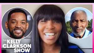 "graphical user interface, application, Teams: Fans everywhere are pumped for the upcoming film ""King Richard,"" which sheds light on the life of Richard Williams, father of tennis superstars Venus and Serena Williams. Venus stops by the show to share her excitement over the film and drops details on Will Smith playing her dad. Tune in for more with Venus Williams.  #KellyClarksonShow #VenusWilliams  Subscribe to The Kelly Clarkson Show: https://bit.ly/2OtOpf8   FOLLOW US Instagram: https://www.instagram.com/kellyclarksonshow/ Twitter: https://twitter.com/KellyClarksonTV Facebook: https://www.facebook.com/KellyClarksonShow/   For even more fun stuff, visit https://kellyclarksonshow.com/   The Kelly Clarkson Show is the uplifting daytime destination for humor, heart, and connection featuring Emmy-winning talk show host, Grammy-winning artist and America's original idol, Kelly Clarkson."