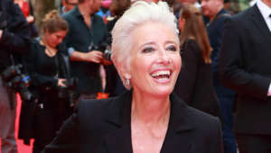 "Emma Thompson wearing a suit and tie smiling at the camera: Emma Thompson has expressed her strong opinions against cosmetic surgery and worries about how it will affect the future of society. The actress told Hello Magazine in 2014: ""It's mad. It's not a normal thing to do, and the culture that we've created that says it's normal, is not normal. Why do people ask persons to cut them open and put things into their body? What is that, what are we doing to ourselves? It's chronically unhealthy and there's this very serious side to all of that because we're going to end up with this sort of 'super-culture' that's going to suggest to young people, girls and boys, that this looks normal. And it's not normal."""