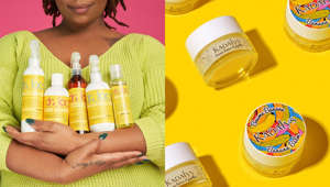 a woman holding a bottle: 32 Black-owned beauty brands you may not have heard of yet