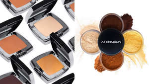 a bunch of items that are sitting on a table: Snag celebrity makeup artist-approved makeup from AJ Crimson.
