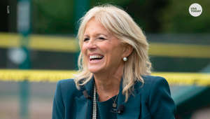 Jill Biden smiling for the camera