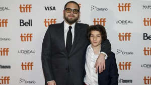 Jonah Hill, Sunny Suljic are posing for a picture: Jonah Hill recaptures adolescence with his new film 'Mid90s'