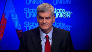 Bill Cassidy wearing a suit and tie: senator bill cassidy sotu bash vpx _00002611.png