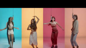 a group of people posing for the camera: Music video by Aitana, Ana Guerra performing Lo Malo. © 2018 Universal Music Spain S.L.U./ Gestmusic Endemol, SAU/ Radio Televisión Española, Sociedad Anónima S.M.E.  http://vevo.ly/zcaE6d