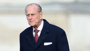 Prince Philip, Duke of Edinburgh wearing a suit and tie