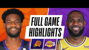 LeBron James smiling for the camera: SUNS at LAKERS | FULL GAME HIGHLIGHTS | March 2, 2021  The Phoenix Suns defeated the Los Angeles Lakers, 114-104. Mikal Bridges recorded 19 PTS, 6 REB and 5 AST for the Suns, while Chris Paul added 8 PTS, 5 REB and 10 AST in the victory. LeBron James led all scorers with 38 PTS, 5 REB and 6 AST for the Lakers.  Next Games: Los Angeles Lakers at Sacramento Kings - Mar. 3 at 10pm/et on NBA League Pass Golden State Warriors at Phoenix Suns - Mar. 4 at 10pm/et on NBA League Pass  Subscribe to the NBA: https://on.nba.com/2JX5gSN  