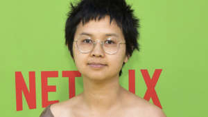 Charlyne Yi posing for the camera