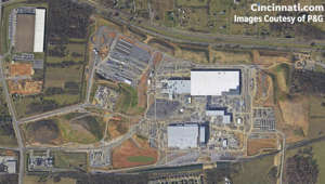 map: Watch three year construction of P&G's Monster factory in seconds