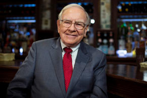 Warren Buffett poses for a portrait during an interview after a luncheon to bene...