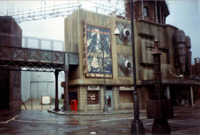 "Set of the 1989 ""Batman"" movie, at Pinewood Studios in England."