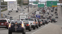 Traffic is seen on Interstate 15 Friday, May 23, 2014, in Salt Lake City, ahead of the Memorial Day weekend.