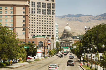 The State capitol building in downtown Boise Idaho