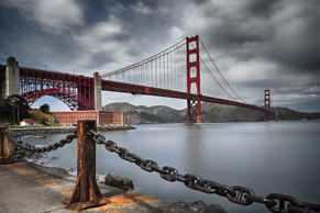 The Golden Gate Bridge from Fort Baker, San Francisco